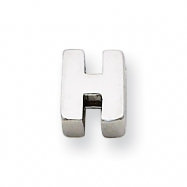 Sterling Silver Initial Slide  H