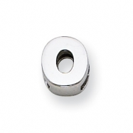 Sterling Silver Initial Slide  O