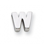 Sterling Silver Initial Slide  W