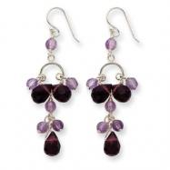 Sterling Silverv Amethyst & Lavender Quartz Earrings