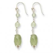 Sterling Silver Prehnite/Green Rutilated Quartz Earrings