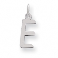 Sterling Silver Large Slanted Block Initial E Charm