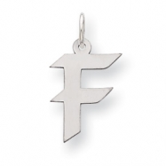 Sterling Silver Medium Artisian Block Initial F Charm