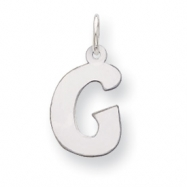Sterling Silver Bubble Block Initial G Charm