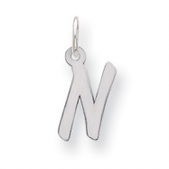 Sterling Silver Small Initial N Charm