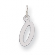 Sterling Silver Small Initial O Charm