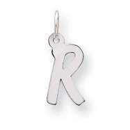 Sterling Silver Small Initial R Charm