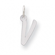 Sterling Silver Small Initial V Charm