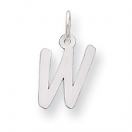 Sterling Silver Small Initial W Charm