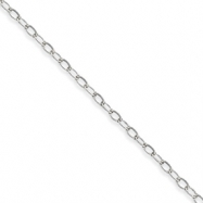 Sterling Silver 3.00mm Link Chain anklet