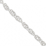 Sterling Silver Double Twist Link Bracelet