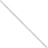 Sterling Silver 2.5mm Fancy Link Chain anklet
