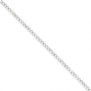 Sterling Silver 2.80mm Wide Curb Chain anklet