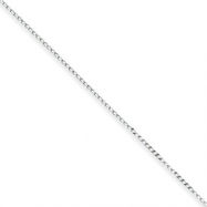 Sterling Silver .5mm Fancy Chain anklet
