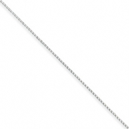 Sterling Silver .3mm Fancy Chain anklet
