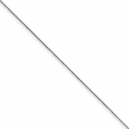 Sterling Silver .5mm Box Chain anklet