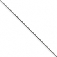 Sterling Silver .6mm Box Chain anklet