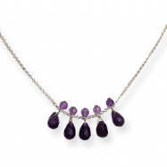 Sterling Silver Amethyst Necklace chain