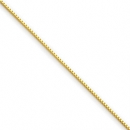 Gold-plated Sterling Silver .6mm Box Chain