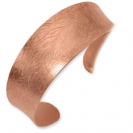 Sterling Silver 18K Rose Gold-Plated Fancy Cuff Bracelet