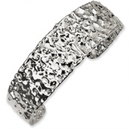 Sterling Silver Fancy Cuff Bracelet