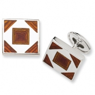 Sterling Silver Resin Famcy Cuff Links