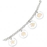 Sterling Silver Sand Charm Bracelet