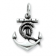 Sterling Silver Antiqued Anchor Charm