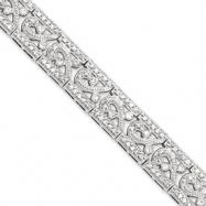 Sterling Silver Fancy CZ Bracelet