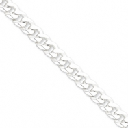 Sterling Silver 8.5mm Beveled Curb Chain