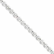 Sterling Silver 6.5mm Rolo Chain