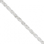 Sterling Silver 5mm Loose Rope Chain