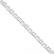 Sterling Silver 6mm Hollow Anchor Chain