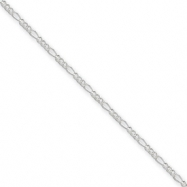 Sterling Silver 1.5mm Figaro Chain bracelet
