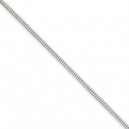 Sterling Silver 1.5mm Round Snake Chain Anklet