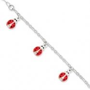 Sterling Silver Enameled Baby Charm Bracelet