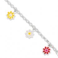 Sterling Silver Enameled Baby Bracelet