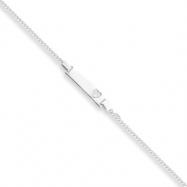 Sterling Silver Adjustable Baby ID Bracelet