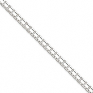Sterling Silver 3.75mm Fancy Box Link Chain