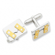 Sterling Silver and Vermeil Cuff Links