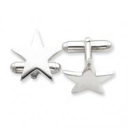 Sterling Silver Star Cuff Links