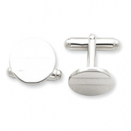 Sterling Silver Circle Cuff Links
