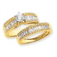 14K Diamond Engagement Ring Semi-Mount ring