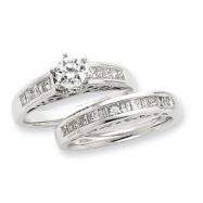 14K White Gold Diamond Engagement Ring Semi-Mount ring
