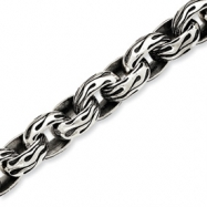 Sterling Silver Antiqued Gothic Bracelet anklet