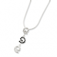 Sterling Silver CZ & Sapphire Necklace chain