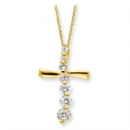 Sterling Silver Vermeil Cross Journey Necklace chain