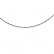 """Sterling Silver 2mm Round Cubetto Necklace w/ 2"""" extender chain"""