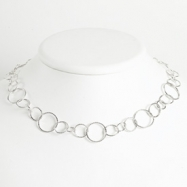 Sterling Silver Fancy Round Link Bracelet