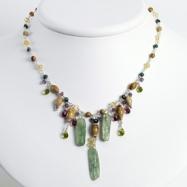 Sterling Silver Citrine/Amethyst/Peridot/Kyanite/Jasper Necklace chain